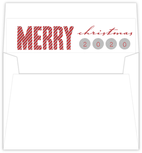 Sparkling Silver Confetti Typography Christmas Liner