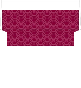 Art Deco Pattern Red Envelope Liner