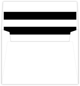 Black and White Modern Bold Striped Liner