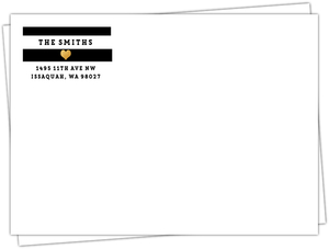 Black, White and Gold Modern Type Envelope