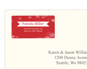 Festive Lights Twinkle Address Label
