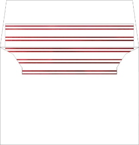 Double Striped Faux Red Foil Liner