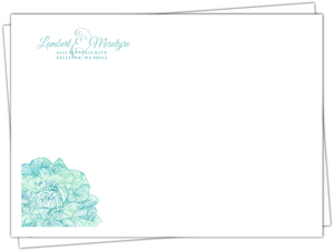 Beautiful Watercolor Blue Flower Envelope