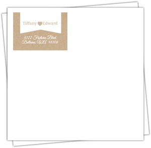 Cute Kraft Heart Banner Envelope