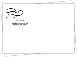 Black Flourish Elegant Envelope