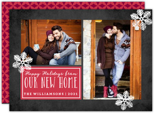 New Home Collage Holiday Moving Announcement