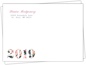 Beautiful Vintage Floral Typography Envelope
