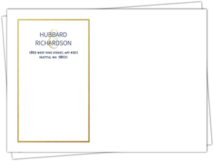 Simple Faux Gold Border Envelope