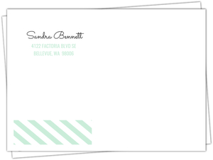 Fun Mint Stripes Envelope