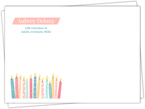 Colorful Patterned Candles Envelope