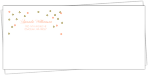 Cute Gold and Pink Faux Glitter Confetti Envelope