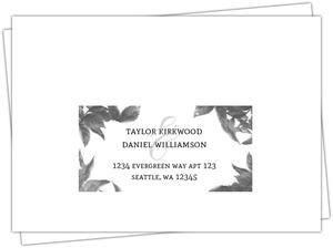 Dark Leaves Modern Response Envelope