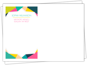Modern Geometric Colorful Frame Custom Envelope