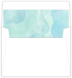 Blue Watercolor Custom Envelope Liner