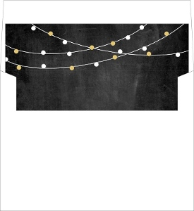 Gold and White Festive String Lights Liner