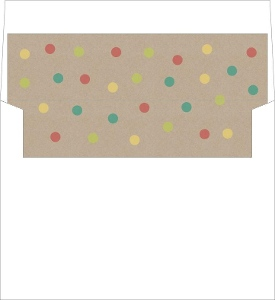 Colorful Dots Kraft Envelope Liner