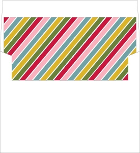 Bright and Colorful Painted Stripes