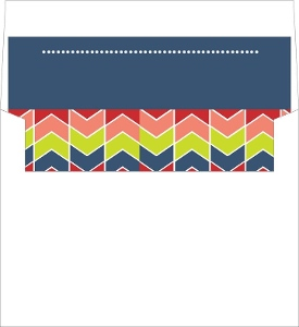 Navy and Colorful Chevron Envelope Liner