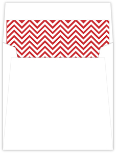 Red and White Chevron Envelope Liner