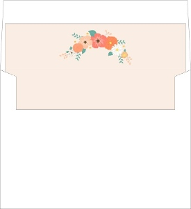 Light Pink Floral Envelope Liner