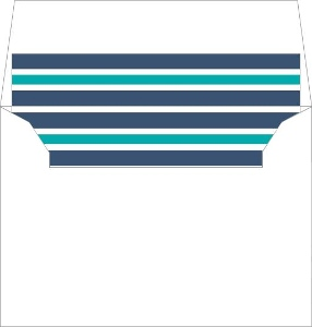 Navy, White and Teal Nautical Stripes Liner