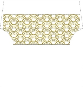 Faux Gold Glitter Art Deco Pattern Envelope Liner