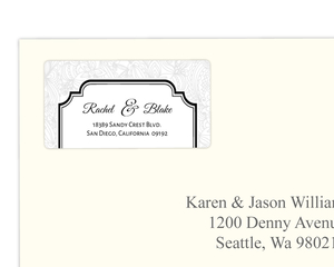 Elegant Lace Address Label