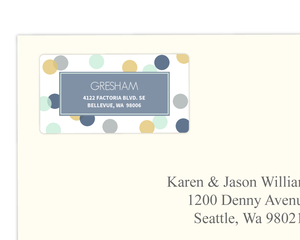 Blue and Yellow Cheers Confetti Address Label
