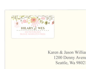 Whimsical Floral Bordered Address Label