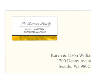 Elegant Faux Gold Foil Address Label
