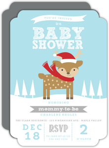 Cute Deer Gender Reveal Baby Shower Invite