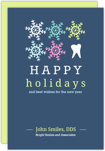 Snowflakes Dental Holiday Greeting Card