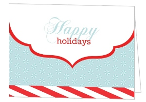 Elegant Candy Cane Stripe Business Holiday Card