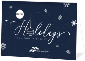Happy Holidays Hanging Ornaments Business Holiday Card