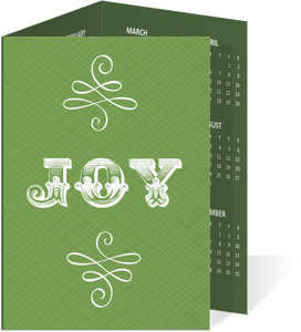 Beauitful Typography Joy Green Holiday Business Card