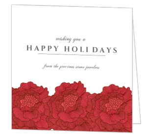 Ornatate Festive Flowers Business Holiday Card