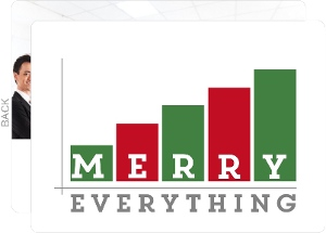 Red and Green Merry Everything Graph Business Holiday Card