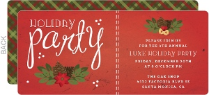 Festive Red and Green Business Holiday Party Invitation