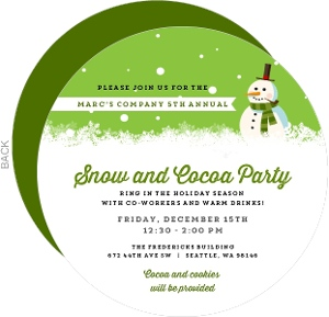 Joyful Snowman Winter Scene Business Holiday Invitation