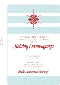 Red and Blue Snowflake Business Holiday Invitation