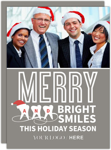 Silver Modern Dental Business Holiday Card