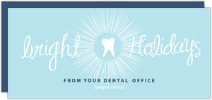 Blue Bright Holidays Holiday Dental Cards