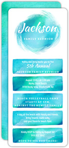 Bright and Bold Watercolor Family Reunion Invitation