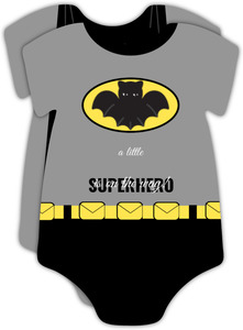 Baby Bat Superhero Baby Shower Invitation