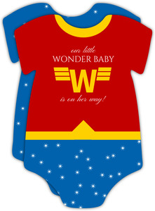 Cute Wonder Onesie Baby Shower Invitation