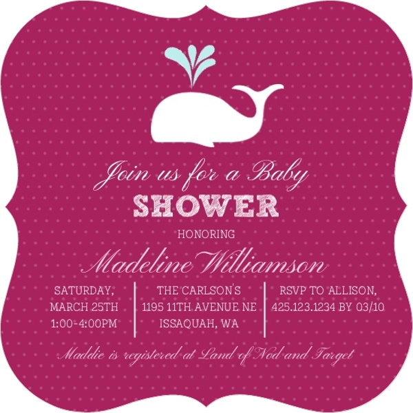 Pink and white whale baby shower invitation girl baby shower pink and white whale baby shower invitation filmwisefo