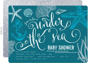 Cheap custom girl baby shower invitations inviteshop turquoise ocean baby shower invitation filmwisefo