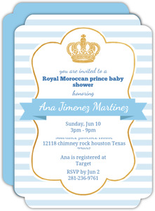 Light Blue Royal Baby Shower Invitation