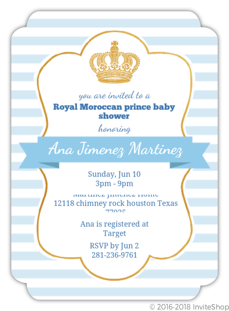 baby styles invitation your terrific shower royal invitations in design theruntime crown com own to