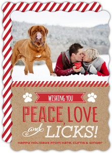 Peace and Love Pet Christmas Photo Card